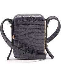 Lutz Morris Norman Contrast-panel Leather Cross-body Bag - Multicolour