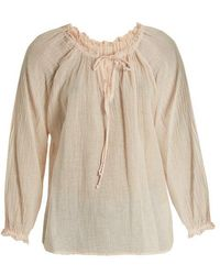 Velvet By Graham & Spencer - Sunflower Cotton-gauze Top - Lyst