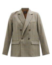 A.P.C. Blazer en laine pied-de-poule Prune - Neutre