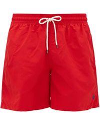 Polo Ralph Lauren Short de bain à logo brodé - Rouge