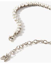 AMINA MUADDI Bracelet de cheville à ornements cristaux Tennis - Métallisé
