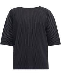 Homme Plissé Issey Miyake Homme Plissé Issey Miyake オーバーサイズ Tシャツ - ブラック