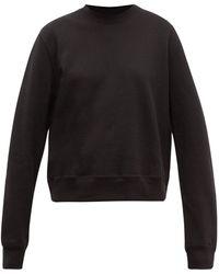 WARDROBE.NYC Release 02 Round-neck Cotton-jersey Sweatshirt - Black
