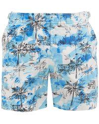 Orlebar Brown ブルドッグ マイアミビーチプリント スイムショーツ - ブルー