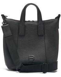 Balenciaga アワーグラス グレインレザートートバッグ - ブラック