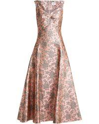 Erdem Verna Floral-jacquard Gown - Pink