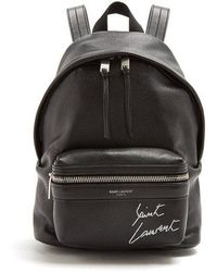 Saint Laurent - Toy City Logo-embroidered Mini Leather Backpack - Lyst