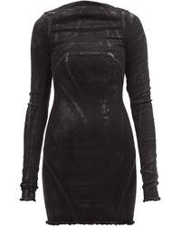 Rick Owens Al ローバック コットンブレンドドレス - ブラック