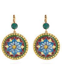 Dolce & Gabbana Floral-drop crystal-embellished earrings iLqxAOgwd
