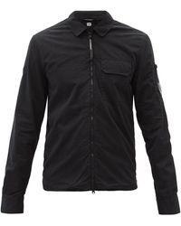 C.P. Company コットンツイルオーバーシャツ - ブラック