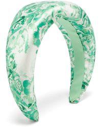 Ganni Bandeau en satin à imprimé fleurs - Vert