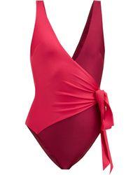 Zimmermann - Bellitude Wrap-effect Swimsuit - Lyst