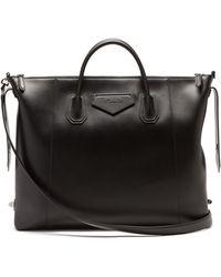 Givenchy アンティゴナ レザーボストンバッグ - ブラック