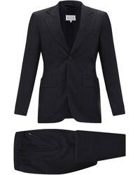 Maison Margiela - ウールフレスコ ツーピーススーツ - Lyst