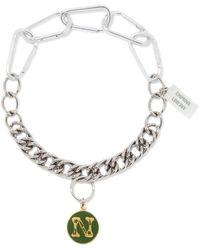 Chopova Lowena Alphabet Stainless-steel N-z Necklace - Metallic