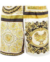 Versace Short de pyjama en sergé de soie à imprimé baroque - Multicolore