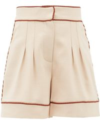 Peter Pilotto Braided-trim Tailored Twill Shorts - Natural
