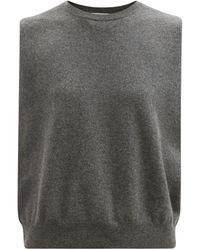 Extreme Cashmere No.156 ビー ナウ カシミアブレンドノースリーブセーター - グレー