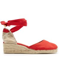 0532a98ce8f J.Crew Strappy Canvas Espadrille Wedges - Lyst