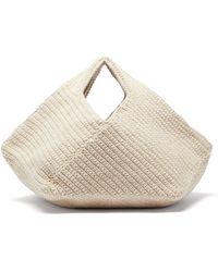 Lauren Manoogian Pinwheel Hand-crocheted Cotton-blend Handbag - Natural