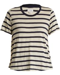 Velvet By Graham & Spencer - Tiana Striped Jersey Top - Lyst