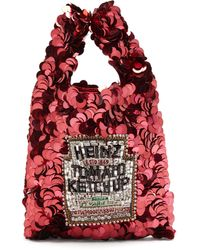Anya Hindmarch Heinz Ketchup Sequinned Tote - Red