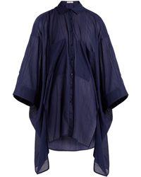 Palmer//Harding Chemise oversize à ourlet oblong - Bleu