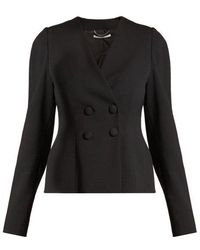 Stella McCartney - Peyton Double-breasted Cropped Jacket - Lyst