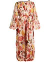 Dolce & Gabbana - Floral-print Gathered Jumpsuit - Lyst