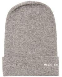 Moncler - Logo Cashmere Beanie Hat - Lyst