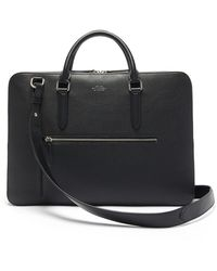 Smythson Ludlow Grained-leather Briefcase - Black