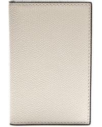 Valextra Porte-cartes en cuir à deux volets - Blanc