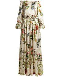 Adriana Iglesias - Creek Floral Print Silk Blend Gown - Lyst