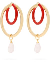 a2ce1ed7d Peter Pilotto Double Face Frosted-glass Flower Earrings in Pink - Lyst