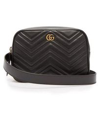Gucci - - Gg Marmont Quilted Leather Belt Bag - Mens - Black - Lyst