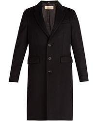 Burberry - Pardessus en laine et cachemire à boutonnage simple - Lyst
