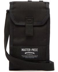 Master Piece Camouflage-lined Cross-body Bag - Black