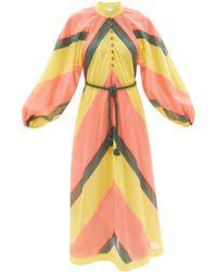 Zimmermann エステレ ストライプ コットンボイルドレス - マルチカラー
