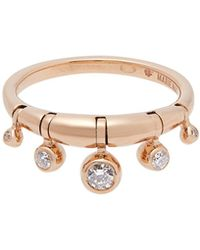 Marie Mas Diamond, Amethyst, Topaz & Pink Gold Ring - Metallic