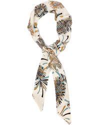 Etro Paisley-print Silk Headband - White