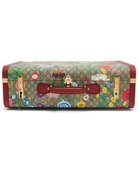 Gucci GG Flora Coated Canvas And Leather Suitcase - Multicolour