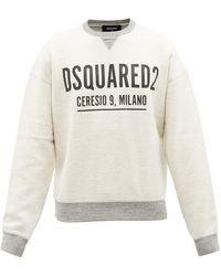 DSquared² マイク ロゴ コットンフリーススウェットシャツ - マルチカラー