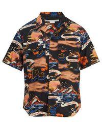 Stella McCartney - Tropical-print Short-sleeved Cotton Shirt - Lyst