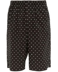 Balenciaga Logo-jacquard Cotton-poplin Shorts - Black