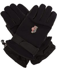 Moncler Grenoble - Twill And Leather Technical Ski Gloves - Lyst