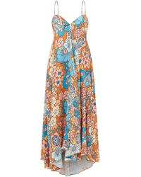 Dodo Bar Or - ミラ バックリボン フローラルツイルドレス - Lyst