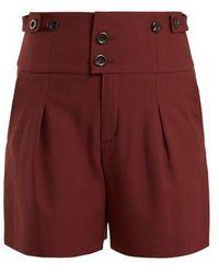 Chloé - High-waist Double-button Shorts - Lyst
