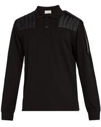 5 MONCLER CRAIG GREEN - Long-sleeve Cotton Polo Shirt - Lyst