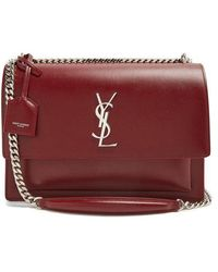 Saint Laurent - Sunset Large Leather Shoulder Bag - Lyst