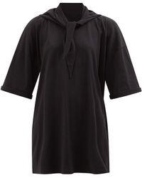 MM6 by Maison Martin Margiela セーラータイ コットンtシャツドレス - ブラック